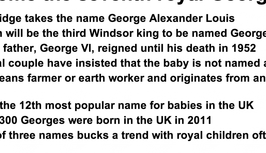 http://www.dailymail.co.uk/news/article-2376835/Prince-George-VII-The-Prince-Cambridge-seventh-royal-George-wasnt-named-great-great-great-grandfather.html